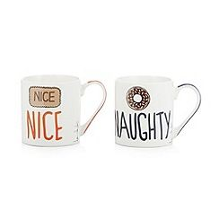 332051402394MG2S: Designer set of two Nice Naughty mugs