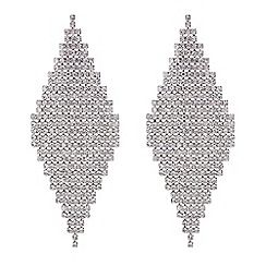 37484_RHER048772: Silver diamante shower earrings