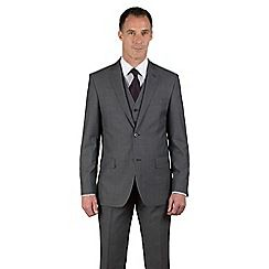 46497_0036513SB: Grey tonic regular fit 2 button black label 3 piece suit