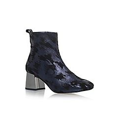 58958_7733489109: Blue Snoopy high heel ankle boots