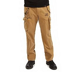 61068_TR366A: Tan crazy cargo pants