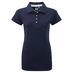 61856_KIMA300: Dark midnight kima polo shirt