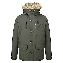 61856_ORCAJ003: Dark olive orca milatex/down jacket