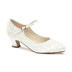63126_18791264: Lace mermaid mid block heel mary janes