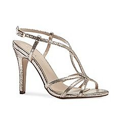 63126_21181408: Glitter magic high heel stiletto heel ankle strap sandals