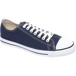 Blauwe sneaker canvas