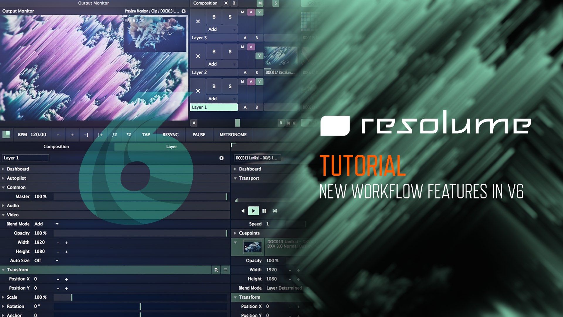 Resolume 6 Tutorial - New Workflow Features