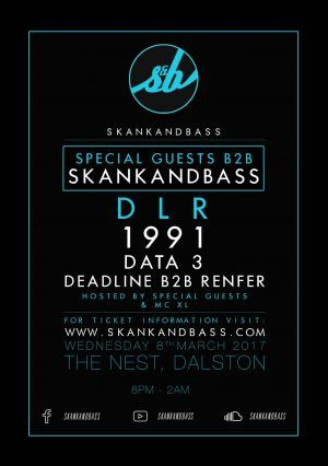 8/3, London. Skankandbass @ The Nest