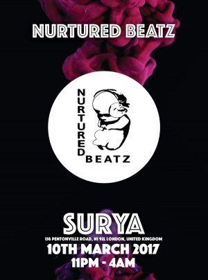 10/3, London. Nurtured Beatz @ Surya