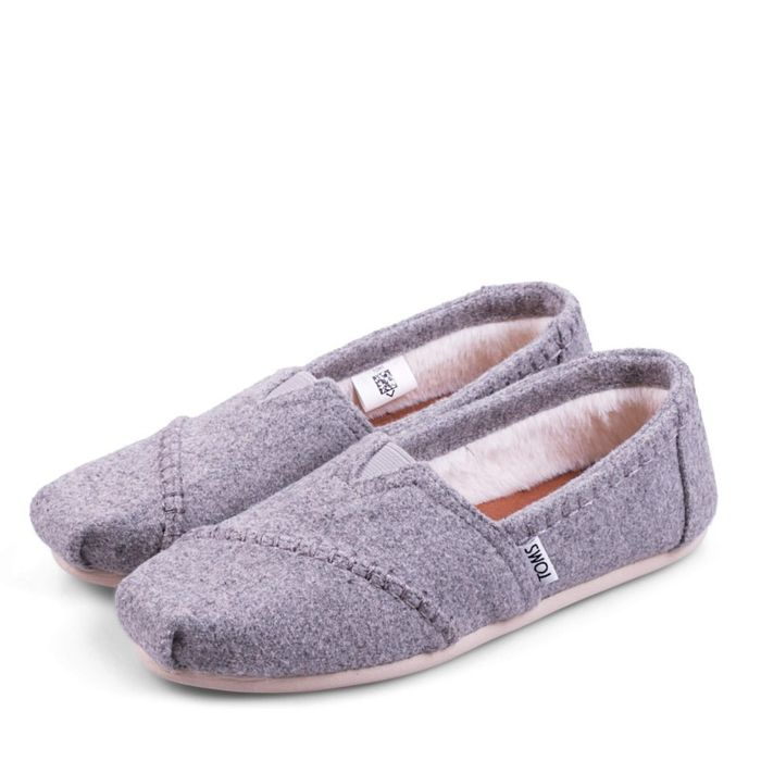 Toms Shoes Classic Drizzle Grey Wool 10010806 Γκρι