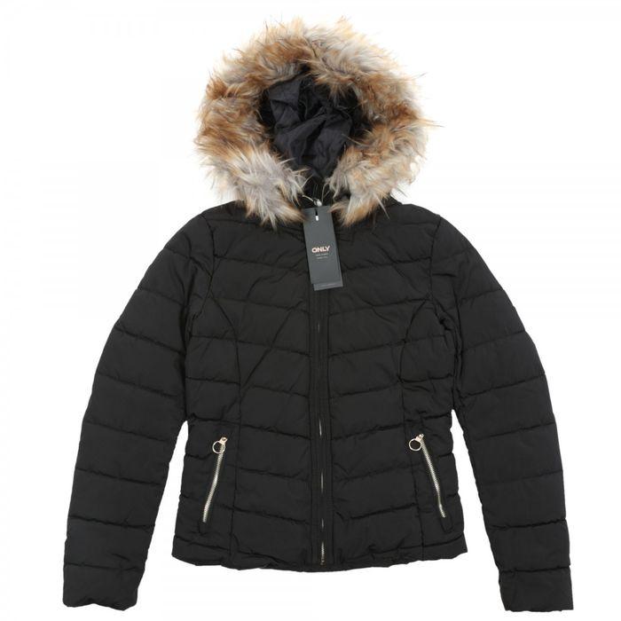 Only New Ellan Quilted Hood Jacket 101.15158943 Μαύρο