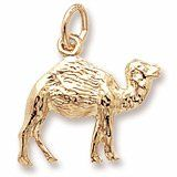 Rembrandt Charms, Camel Charm, 22K Yellow Gold Plate on .925 Sterling Silver