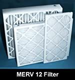 16x25x4-MERV12 A/C Furnace Air Filters by Nordic Pure (Box of 6)