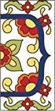 3' X 6' Ceramic Tile Address House Number Talavera White RIGHT END