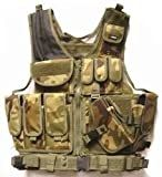 FireDragon Airsoft Tactical Gear - Green Camo Tactical Vest
