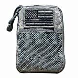 Ultimate Arms Gear ACU Army Digital Molle Gear-Ipod-Camera Case + Removable U.S.A. Flag Velcro Patch