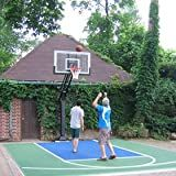 Pro Dunk Gold: Best-Selling Driveway Basketball Goal Hoop with a High-Performance 60 Inch Glass Backboard That Can Be Effortlessly Adjusted Down To an Industry Low 5 Feet