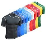 SUB DUAL Sports Compression Fit Baselayer Top Short Sleeve