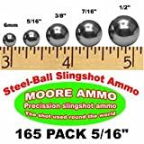 165 pack 5/16' Steel-Ball slingshot ammo (12 oz)