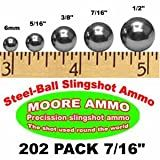 202 pack 7/16' Steel-Ball slingshot ammo (2-1/2 lbs)