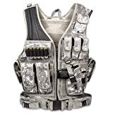 GMG-Global Military Gear Tactical Military Assault Vest w/Pistol Holster-ACU-Army Digital Camo