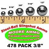 478 pack 3/8' Steel-Ball slingshot ammo (3-3/4 lbs)