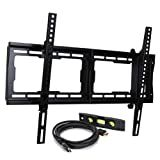 VideoSecu Tilt TV Wall Mount Bracket for Most 23'- 65' LCD LED Plasma TV Flat Panel Screen with VESA 200x100 to 600x400mm, Bonus 10 ft HDMI Cable and Magnetic Bubble Level BBM