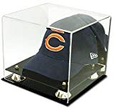 BCW Deluxe Acrylic Baseball Cap / Hat Display - With Mirror - Sports Memorabilia Display Case - Collecting Supplies