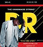 DR Strings Bass Strings Fatbeam, Marcus Miller Signature Stainless Steel Round Core Bass 45-105