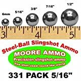 331 pack 5/16' Steel-Ball slingshot ammo (1-1/2 lbs)