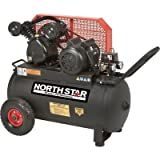- NorthStar Belt Drive Single-Stage Portable Air Compressor - 2 HP, 20-Gallon, Horizontal, 5.5 CFM