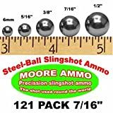 121 pack 7/16' Steel-Ball slingshot ammo (1-1/2 lbs)