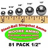 81 pack 1/2' Steel-Ball slingshot ammo (1-1/2 lbs)