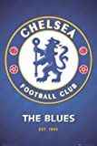 Posters: Soccer Poster - Chelsea FC, The Blues, Club Crest 2013 (36 x 24 inches)