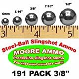 191 pack 3/8' Steel-Ball slingshot ammo (1-1/2 lbs)
