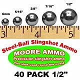 40 pack 1/2' Steel-Ball slingshot ammo (12 oz)
