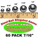 60 pack 7/16' Steel-Ball slingshot ammo (12 oz)