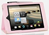IVSO Acer Iconia A1-810 7.9-Inch Slim-BOOK PU Leather Stand Cover Case (Pink)