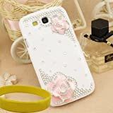 Bingsale 3d Bling Crystal Rhinestone Flower Case Cover Skin , Samsung Galaxy S3 Screen Protector Shield-Pink