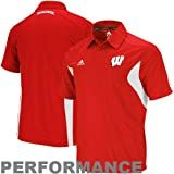 Wisconsin Badgers Adidas 2011 Sideline Adizero Red Performance Polo Shirt