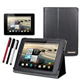 BIRUGEAR SlimBook Leather Folio Stand Case with Screen Protector & Stylus for Acer Iconia A1-810 - 7.9' Android Tablet PC Wifi 3G