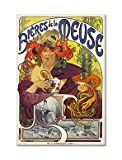 Bieres de la Meuse French Beer Advertising Art Fridge Magnet