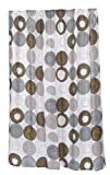 Carnation Home Fashions 100-Percent Polyester Fabric Print 70 by 84-Inch Shower Curtain, X-Long, Madison, Multi Earthtone Colors