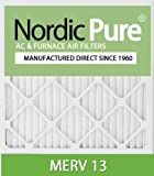 Nordic Pure 14x24x1M13-6 14x24x1 MERV 13 Pleated AC Furnace Air Filter, Box of 6, 1-Inch