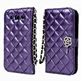 TORU iHand Diamond Quilted Fashion Wallet Case for Samsung Galaxy S3 SIII S III i9300 - Purple