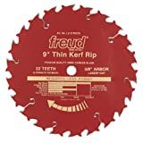 Freud LU87R009 9-Inch 22 Tooth ATB Thin Kerf Ripping Saw Blade with 5/8-Inch Arbor and PermaShield Coating