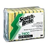3M Scotch-Brite™ Medium-Duty No. 74 Scrub Sponges, Pack Of 10