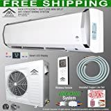 Amvent 24000 BTU 2 Ton Ductless Wall Mount Mini Split Room Air Conditioner AC Conditioning Cooling System Unit