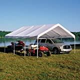 ShelterLogic 18 x 20- Feet Canopy 2- Inch 4- Rib Frame, White Cover
