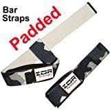 Camouflage PADDED Power Hand Bar Straps Weight Lifting Cotton Straps Training